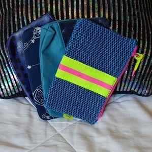 Handbags - 4 Blue Ipsy Bags